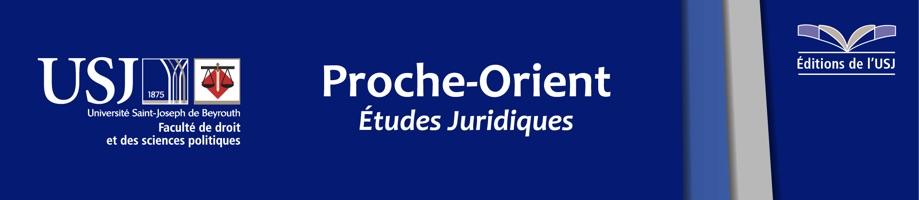Proche Orient Études juridiques
